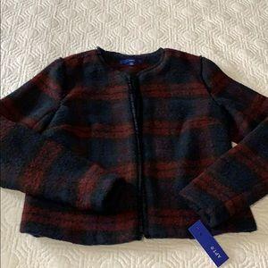 Plaid jacket size S NWT